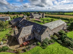 Aerial photograph of stunning holiday homes in the Lake District, Cumbria in sunshine
